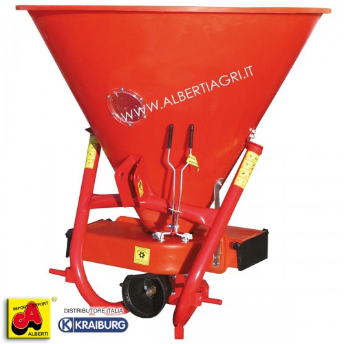Spandiconcime per frutteto in materiale sintetico elastico, 715 litri / 550 kg