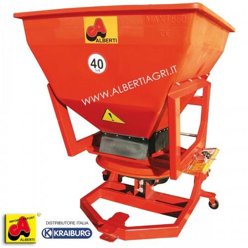 Spandiconcime in materiale sintetico elastico, con pavimento vibrante, 550 litri / 380 kg