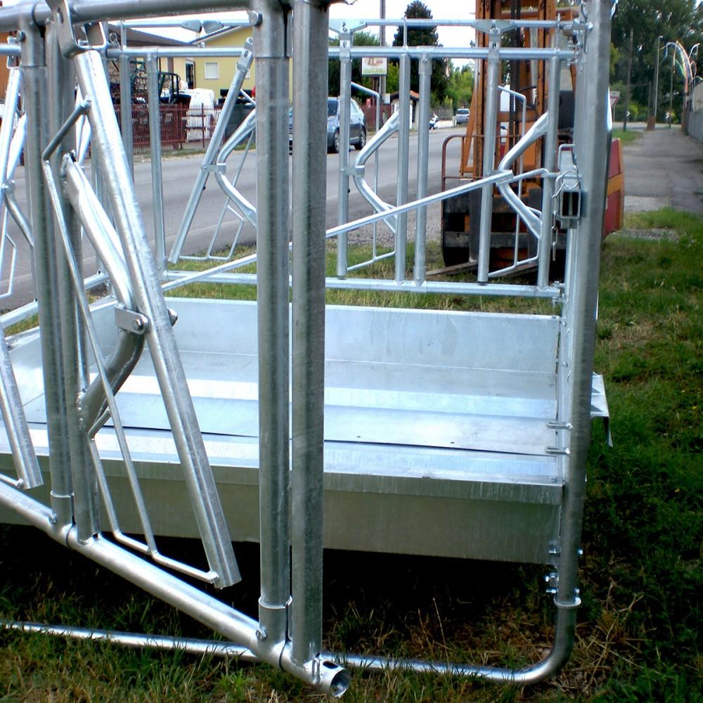 Mangiatoia autocatturante per bovini 2x2 12posti for Attrezzature zootecniche usate