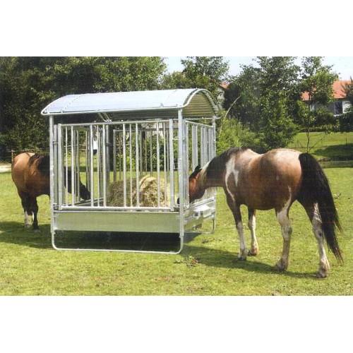 Mangiatoia cavalli porta fieno 2x2 a sbarre verticali