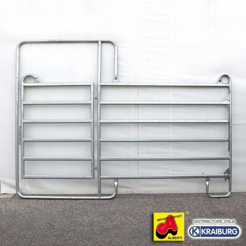 Pannello recinto con porta per cavalli L 240 cm
