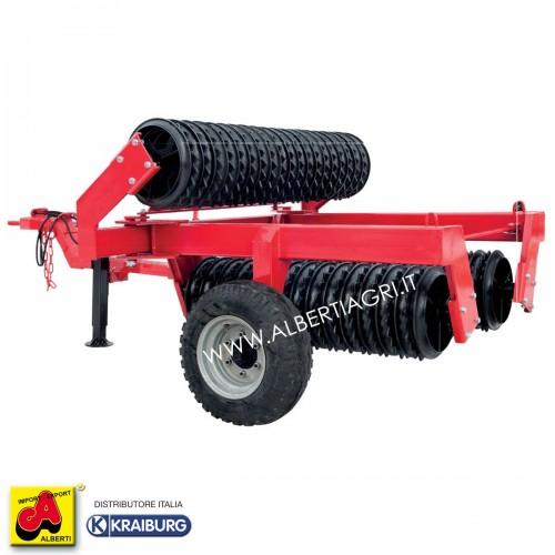Rullo coltivatore cambridge idraulico snodato Walze 6,2m D530 1 cilindro + imp.led