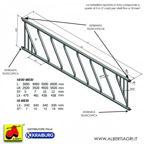 607 AMW07-DP4000C_a Rastrell.vit.inclin.4m 10p./340mm18 mesi