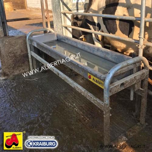 Abbeveratoio da terra ribaltabile con riscaldamento e vasca inox L 200cm