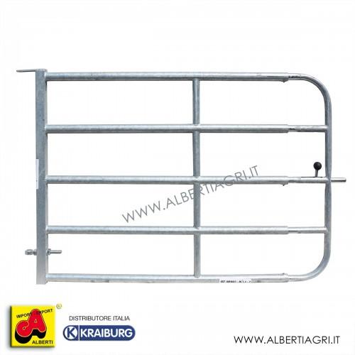 607 AMW02-BL1,4-2_a Cancello 5 tubi regolabile 1,4-2m42/34/45