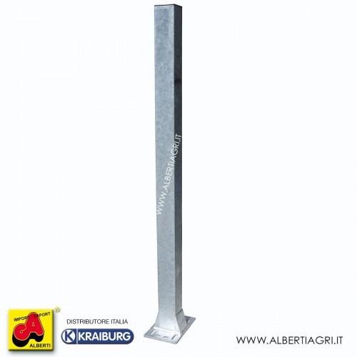 Piantone 100x100x3x H1650 con base