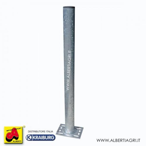 Piantone tondo rinforzato d.101,6x3,6x H 1350 con base