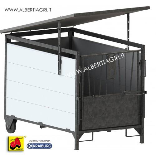 607 AKDAGBOX_a Tetto per box vitelli grande     180x120cm