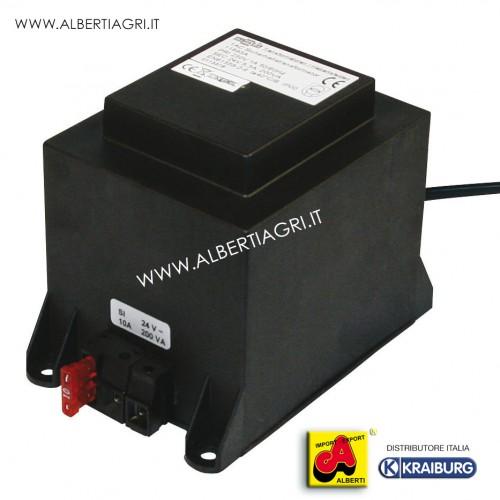 Trasformatore per riscaldamento acqua 200 W/24 V